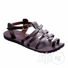 f033ce00d Men s Buckled Leather Sandals - Brown