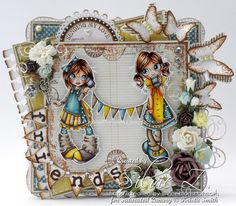 Saturated Canary 'SECRETS' Handmade OOAK Card - designed by Silvie Z.
