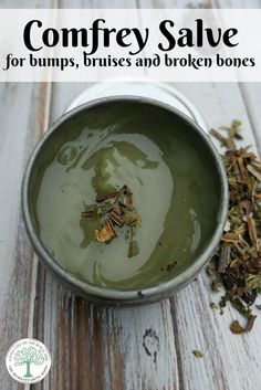 Comfrey known as one of the herbs to heal broken bones. This comfrey salve is a must have for your  home herbal apothecary. The Homesteading Hippy via /homesteadhippy/