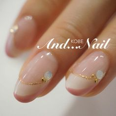 ★大人可愛いホワイト×ピンクWフレンチネイル★ の画像|★白川麻里★神戸☆ネイルサロンAND...NAIL(アンドネイル)MARIのブログ Dream Nails, Love Nails, Pretty Nails, Simple Gel Nails, Nail Art Techniques, Japanese Nail Art, Round Nails, Minimalist Nails, Neutral Nails