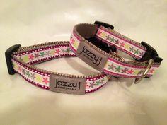 Pink & Purple Snowflake Winter Dog Collar by Jazzy J Designs, $15.00