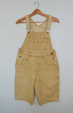 Vintage Denim Overalls Denim Overall Shorts by founditinatlanta, $44.50
