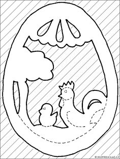 vajíčko Ester Crafts, Wood Burning Patterns, Easter Projects, Easter Printables, Easy Christmas Crafts, Scroll Saw Patterns, Wood Ornaments, Paper Decorations, Spring Crafts