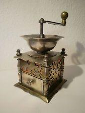 antike Kaffeemühle ca. 1870-80 Messing und Kupfer