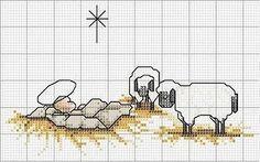 Punto de Cruz GRATIS: Nacimientos Sencillos