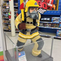 The Lego firefighter is at my local Toys R Us. - Imgur