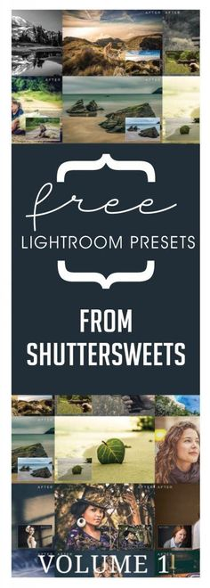 Free Lightroom Presets from Shuttersweets Shuttersweets has offered up 20 of their most popular free lightroom presets in one easy download. Make editing a bree
