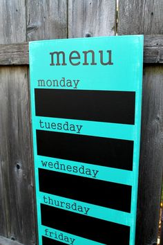 menu board on etsy JolieMaeCollections