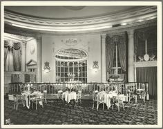 dining room at the Ritz Carlton, NYC 1927 - Google Search