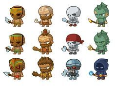 18 Ideas for games illustration character style Simple Character, Game Character Design, Character Design Inspiration, Character Concept, 2d Character Animation, Alien Character, Character Art, Web Design, Game Design
