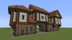 Minecraft – Fachwerkhaus – Half-timbered House – … - Mine Minecraft World Minecraft Building Guide, Minecraft Plans, Minecraft Tutorial, Minecraft Blueprints, Minecraft Crafts, Minecraft Stuff, Cool Minecraft Creations, Youtube Minecraft, Building Games