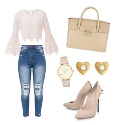 A fashion look from February 2017 featuring lace crop tops, distressed jeans and special occasion shoes. Browse and shop related looks. Furla, Marc Jacobs, Kate Spade, Shoe Bag, School, Polyvore, Outfits, Collection, Shopping
