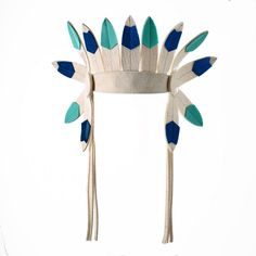 Blue-green Indian Feathers - Frida's Tierchen
