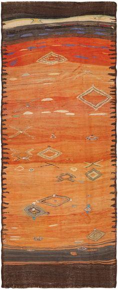 Vintage Modernist Moroccan Kilim 46475 - by Nazmiyal