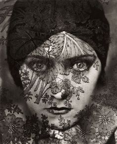 "Photos: Edward Steichen's Iconic Portraiture | Vanity Fair Gloria Swanson, behind a curtain of lace, as the first feature-length ""talkies"" were emerging. February 1928."