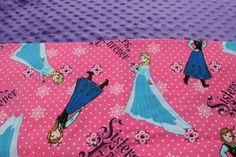 Hot Pink Frozen Elsa and Anna KinderMat Nap Mat Cot Cover Daydreamer with purple headrest by YarnkeeDoodle on Etsy