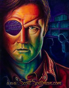 The Governor from the Walking Dead. Painting by Scott Spillman
