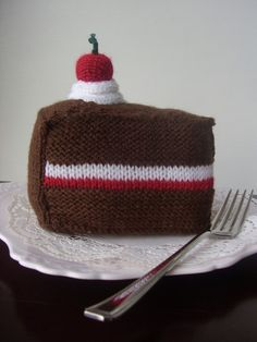 knitting pattern for Birthday Cake and Gateau pdf