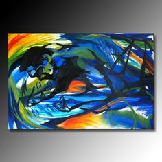 Original Abstract Oil Painting Man And Woman on Etsy, $279.00