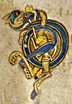 Book of Kells - initial letters D I