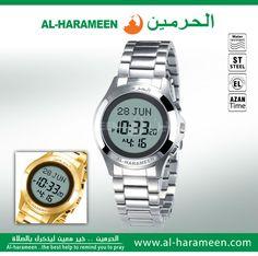 Muslim Prayer Wristwatch With Qibla Compass 6208 Rectangle Watch For Muslim With Prayer Alarm & Azan Time Watches