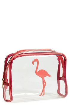 Free shipping and returns on Lolo 'Blake - Flamingo' Cosmetics Case at Nordstrom.com. A clear zippered pouch with a cheery appliqué keeps your on-the-go essentials contained and easy to find.