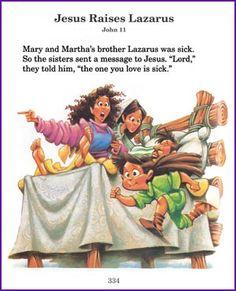 Jesus Raises Lazarus (Story) - Kids Korner - BibleWise