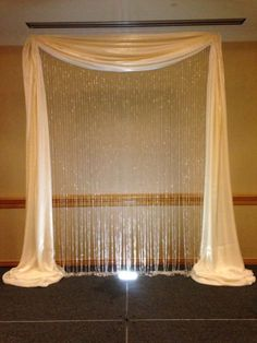 crystal curtain arch Design Diva | Gallery, Ceremony  Reception Pictures, Wedding Decoration Ideas