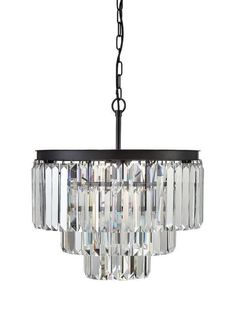 Vintage Style Great Gatsby Crystal Odeon Round Chandelier   $369.00