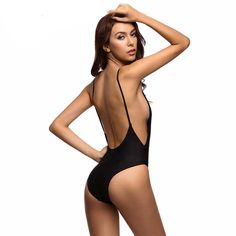 Feel confident at the beach in this low cute sexy one piece swimsuit! This swimsuit features a low back and is low cut in the front. - Lycra,Nylon,Spandex