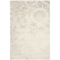 Safavieh Porcello Light Grey/ Ivory Rug (6'7 x 9'6) - Overstock Shopping - Great Deals on Safavieh 5x8 - 6x9 Rugs