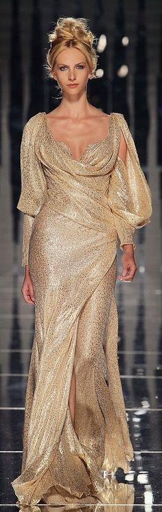 gold prom and evening dress