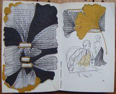 Boeksel met gedroogd blad door Loes Vork Workshops voor Creativiteit & Ontmoeting: Boekselen