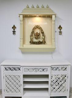 Pooja Mandirs USA - Vishaka Collection - Wall Hanging Mandirs Wooden Temple For Home, Pooja Mandir, Usa, Storage, Interior, Wall, Collection, Design, Purse Storage
