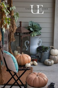 Fall Porch Inspiration at Unexpected Elegance of