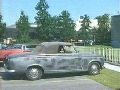 Like the 70-year-old Falk himself, that beat-up vehicle on Columbo seems to get better with age. It's a 1959 Peugeot convertible, Model 403. Only 504 were produced in France, and Falk's production company owns two (the second is used as a backup car). Despite their dilapidated appearance, the cars are treated with kid gloves.