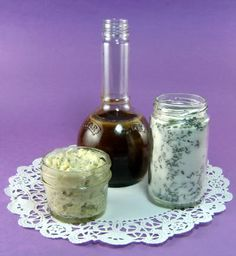 Lavender Sugar, Butter and Salad Dressing