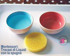 Montessori: Travasi di Liquidi con la spugna | Mamma Felice