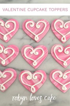 These adorable marble heart cupcake toppers are quick and easy to do, and will make anyone feel special!