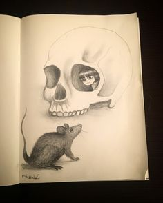 """""""Hello"""" pencil on paper by Frenk"""