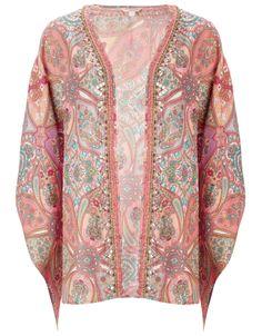 Ameline Printed Kimono | Multi | Monsoon