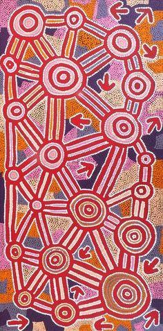 Yankirri Jukurrpa (Emu Dreaming) - Ngarna by Geraldine Nangala Gallagher
