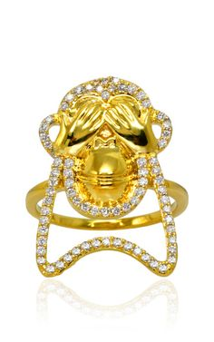See No Evil Ring by  for Preorder on Moda Operandi