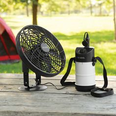 Tent fan with Battery Pack so I can keep my phone charged this year!