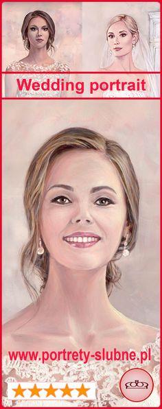 Piękne portrety. Zamów wyjątkowy prezent ślubny dla Panny Młodej lub Młodej Pary :) Ręczne malarstwo w 100%. Taki portret, to dzieło sztuki dzisiaj, a po latach jest klejnotem rodzinnym i dumą w naszej pamięci. Więcej –www.portrety-slubne.pl Zarezerwuj termin  e-mail   wenecjusz.mielechowicz@gmail.com ; Tel +48 698 991 606 Unique Wedding Gifts, Unique Gifts, Bride Gifts, Wedding Portraits, Newlyweds, Hand Painted, Memories, Brides, Wedding Gifts For Bride