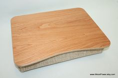 """Wooden Laptop Bed Tray / iPad Table / Pillow Tray / Serving Tray / Breakfast Tray / Laptop Stand  """"Cherry Light"""""""