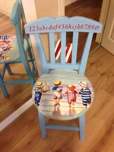 Rent For Chairs And Tables Parties Referral: 5603018981 Hand Painted Chairs, Hand Painted Furniture, Paint Furniture, Furniture Makeover, Chair Makeover, Decoupage Furniture, Funky Furniture, Repurposed Furniture, Kids Furniture
