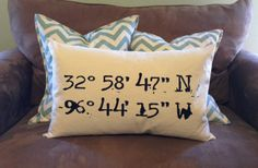 GroopDealz | Latitude & Longitude Pillows
