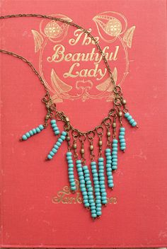 Turquoise Bead Necklace Fringe Under 25 Simple Jewelry Bohemian Ethnic Tribal Black Friday Etsy. $20.00, via Etsy.