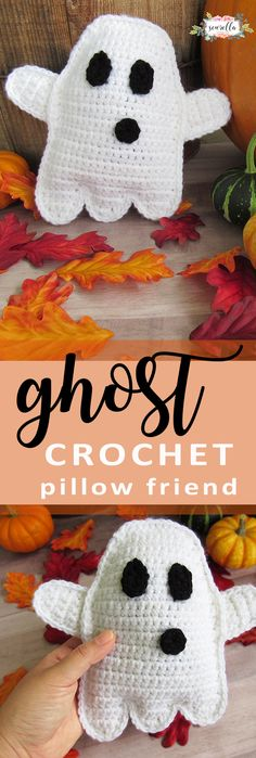 Crochet this easy, beginner friendly ghost amigurumi rag doll for halloween! The perfect free pattern for autumn and fall!